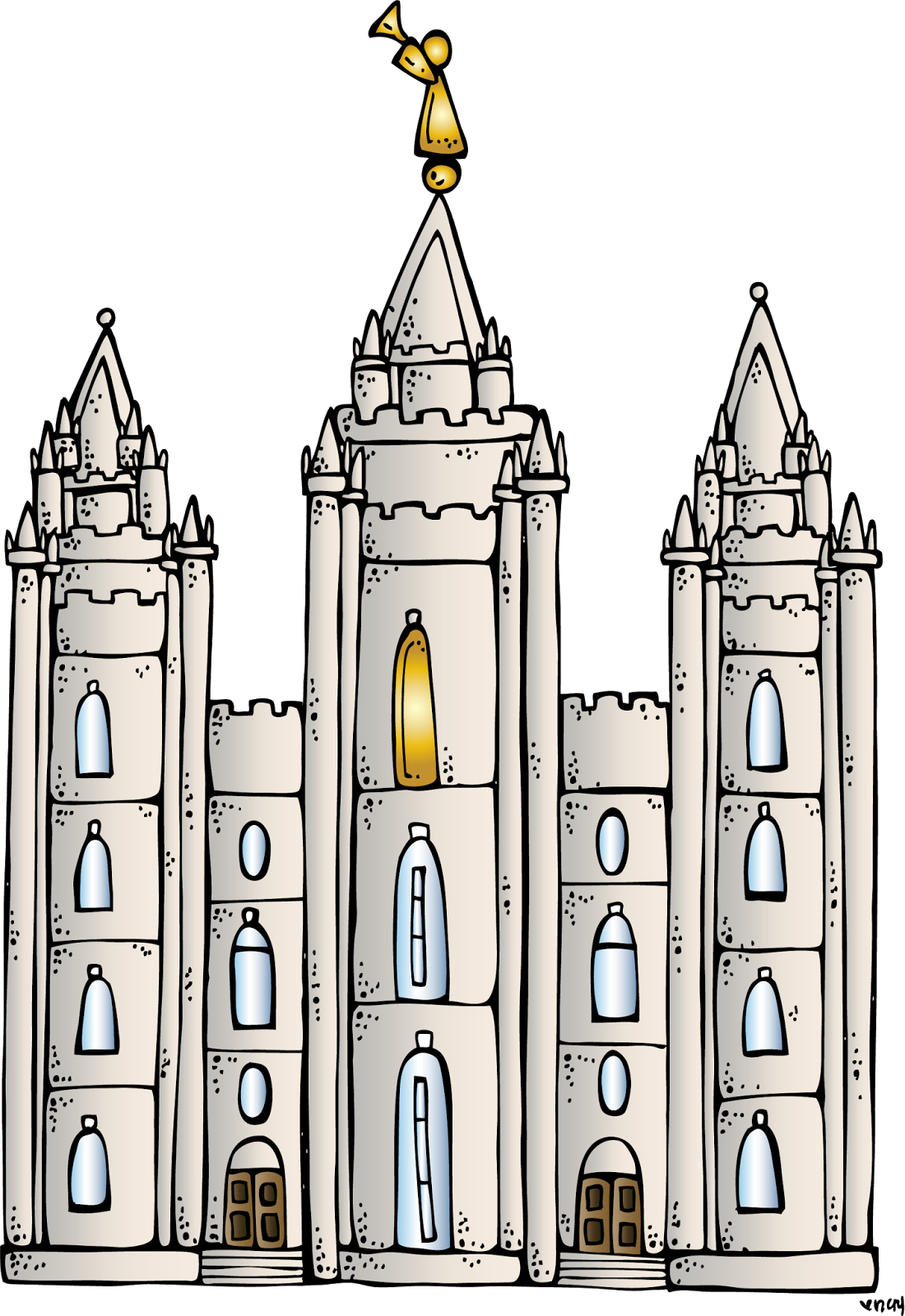 Salt Lake Temple Clipart - .-Salt lake temple clipart - .-11