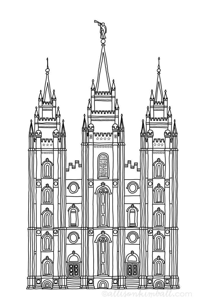 Salt Lake temple (friday freebie) Printable