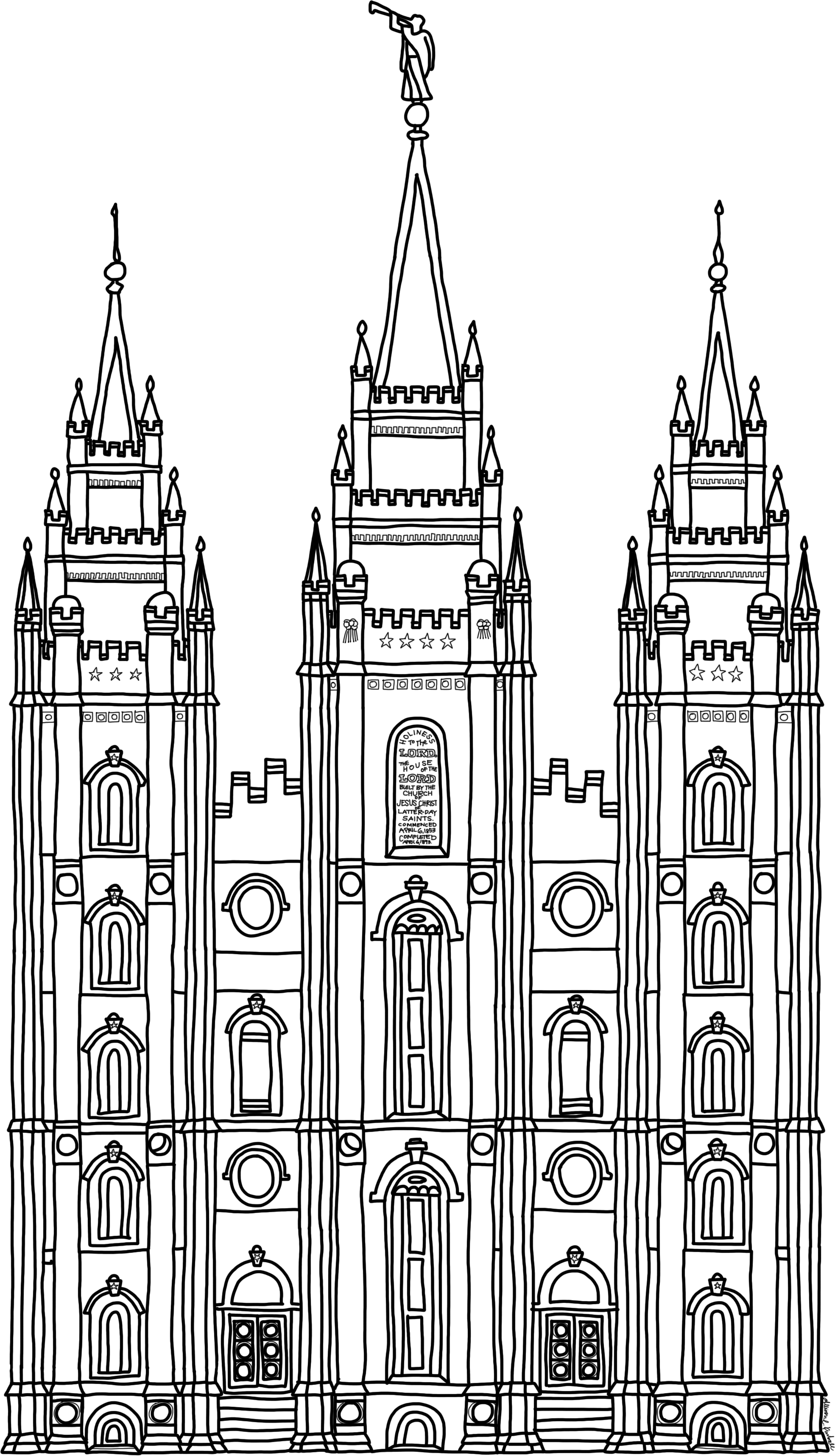 91 Salt Lake Temple Clipart Clipartlook