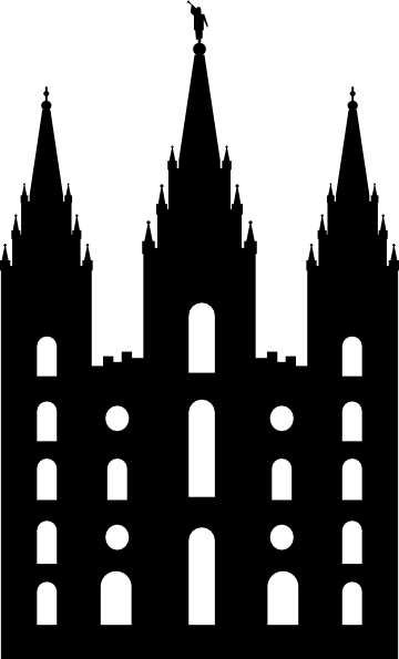 Salt Lake Temple Silhouette Clip Art At Clker Com Vector Clip Art