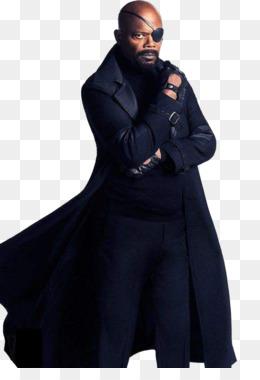 Samuel L. Jackson Nick Fury Avengers: In-Samuel L. Jackson Nick Fury Avengers: Infinity War Captain America Black  Widow - samuel-14
