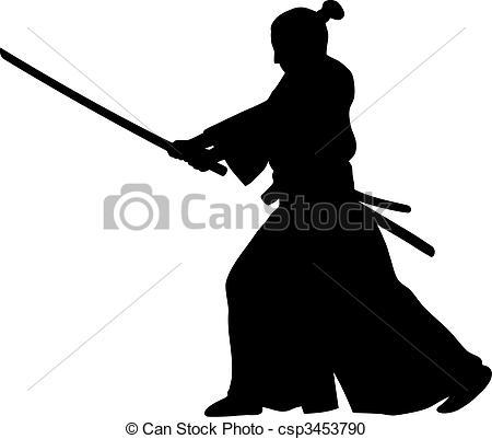 Samurai - Abstract Vector Illustration O-Samurai - Abstract vector illustration of samurai-9