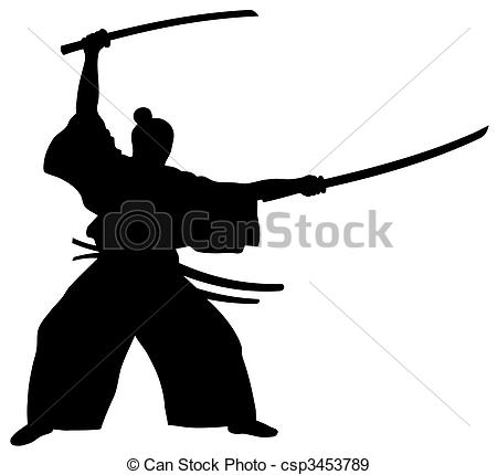 ... Samurai - Abstract vector illustration of samurai