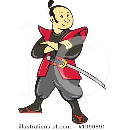 Samurai Clipart 1090891 Illustration By Patrimonio