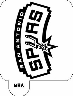 MR. HAIR ART STENCIL - SAN ANTONIO SPURS-MR. HAIR ART STENCIL - SAN ANTONIO SPURS-20