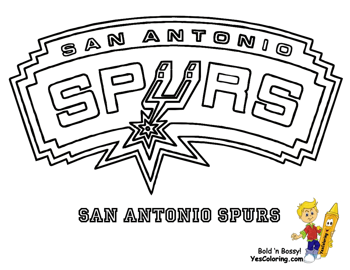 New San Antonio Spurs Jersey Template Of New Coloring Pages Nba  Leversetdujourfo