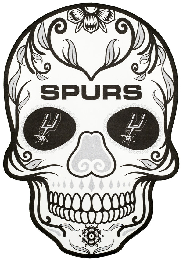 San Antonio Spurs Outdoor Graphic - Skull