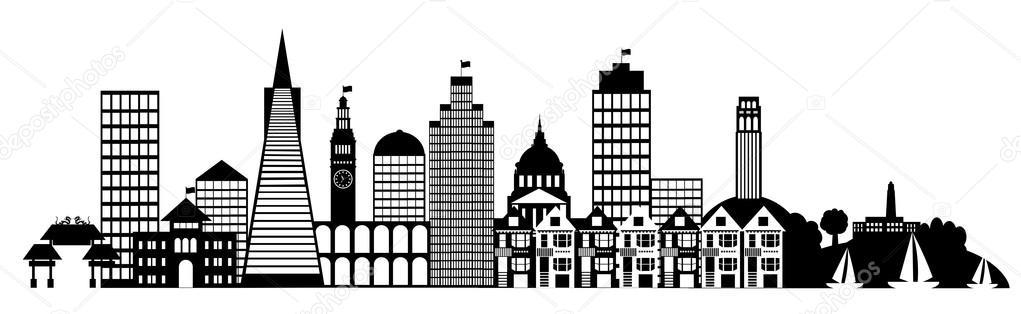 San Francisco City Skyline Pa - San Francisco Clip Art