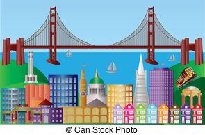 ... San Francisco City Skyline Panorama -... San Francisco City Skyline Panorama Illustration - San... San Francisco City Skyline Panorama Illustration Clip Art ...-11