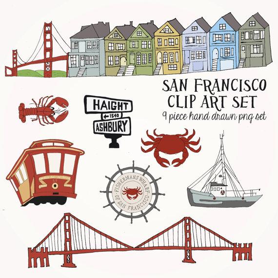 San Francisco Clip Art Set .-San Francisco Clip Art Set .-8