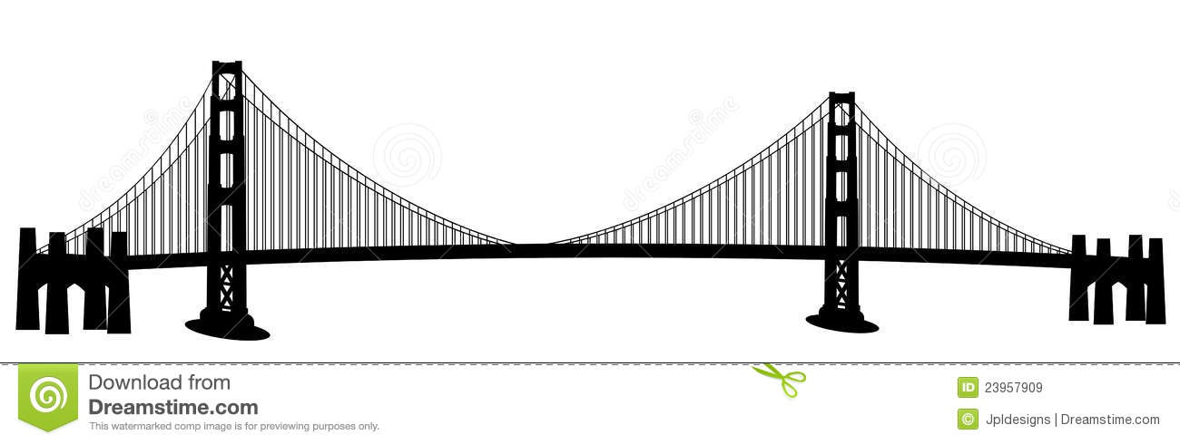 San Francisco Golden Gate Bridge Clip Ar-San Francisco Golden Gate Bridge Clip Art-13