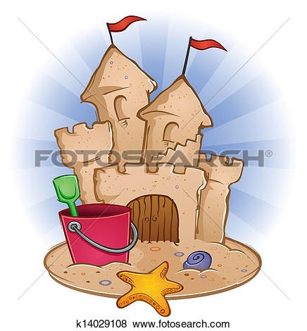 Sand Castle Beach Cartoon