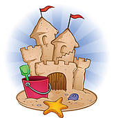 Sand Castle U0026middot; Sand Castle Bea-Sand Castle u0026middot; Sand Castle Beach Cartoon-14