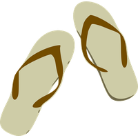 Beach Sandal Clipart PNG Image