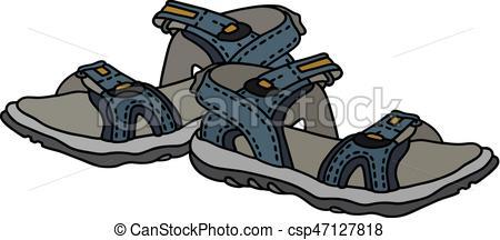Blue sport sandals - csp47127818