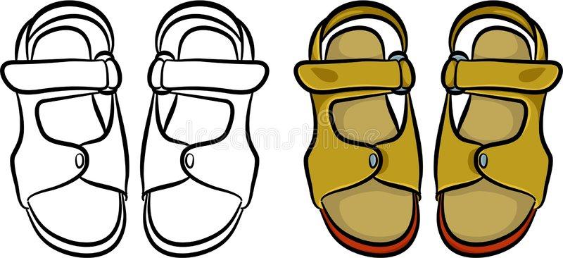 Download Mens sandals stock illustration. Illustration of clipart - 714996