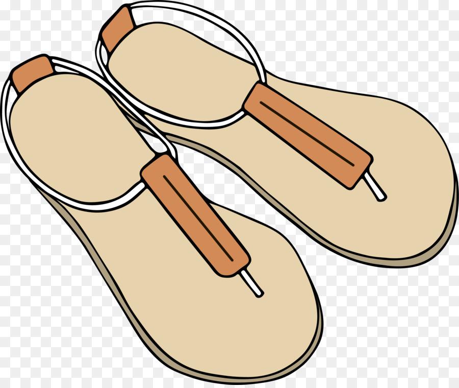 Sandal Drawing Cartoon Clip art - Yellow sandals
