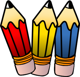 sandbox clipart. Pencils Three