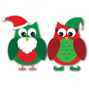 Santau0026#39;s Owls Clip Art SVG