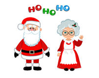 Santa And Mrs Claus Standing Christmas. -Santa and Mrs Claus standing Christmas. Stock Photos-17