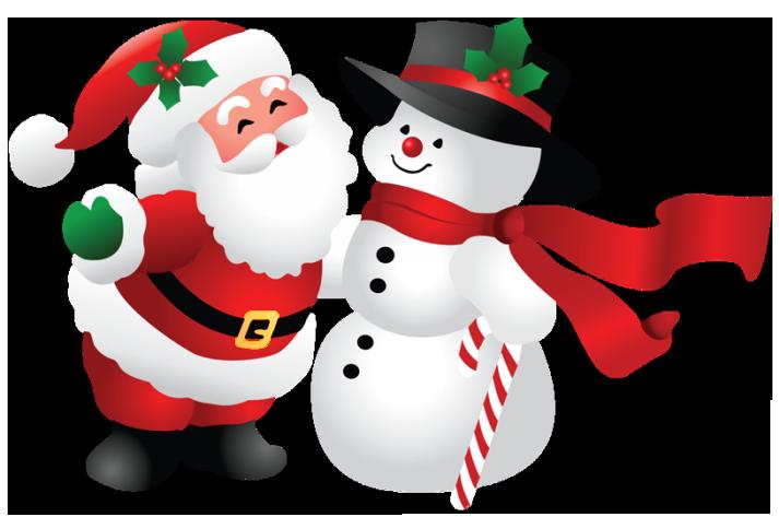 Santa And Snowman Clipart