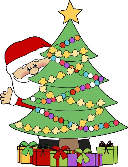 Santa Behind A Christmas Tree-Santa Behind a Christmas Tree-10