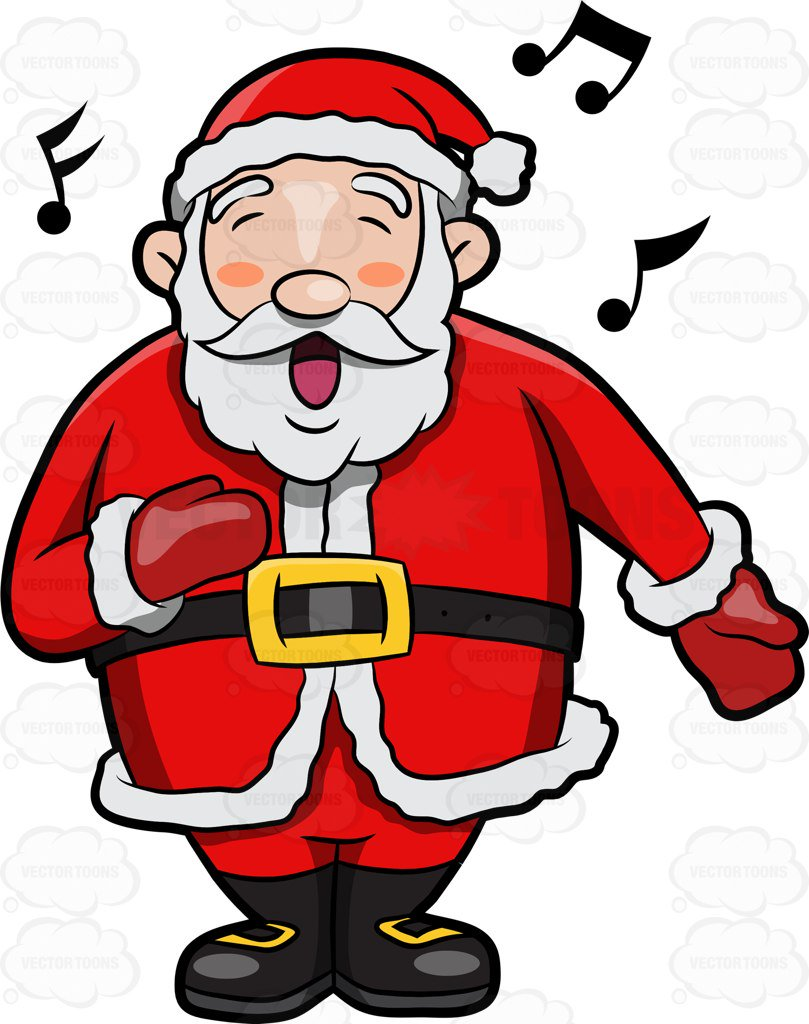 A jolly Santa Claus singing in delight-A jolly Santa Claus singing in delight-11