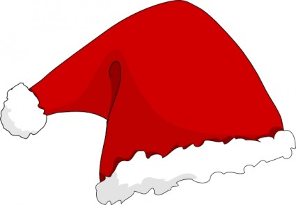 Santa Claus Hat Clip Art Vector Clip Art-Santa Claus Hat clip art Vector clip art - Free vector for free-19