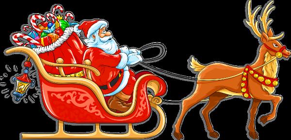 Santa Claus Sleigh Clipart #1