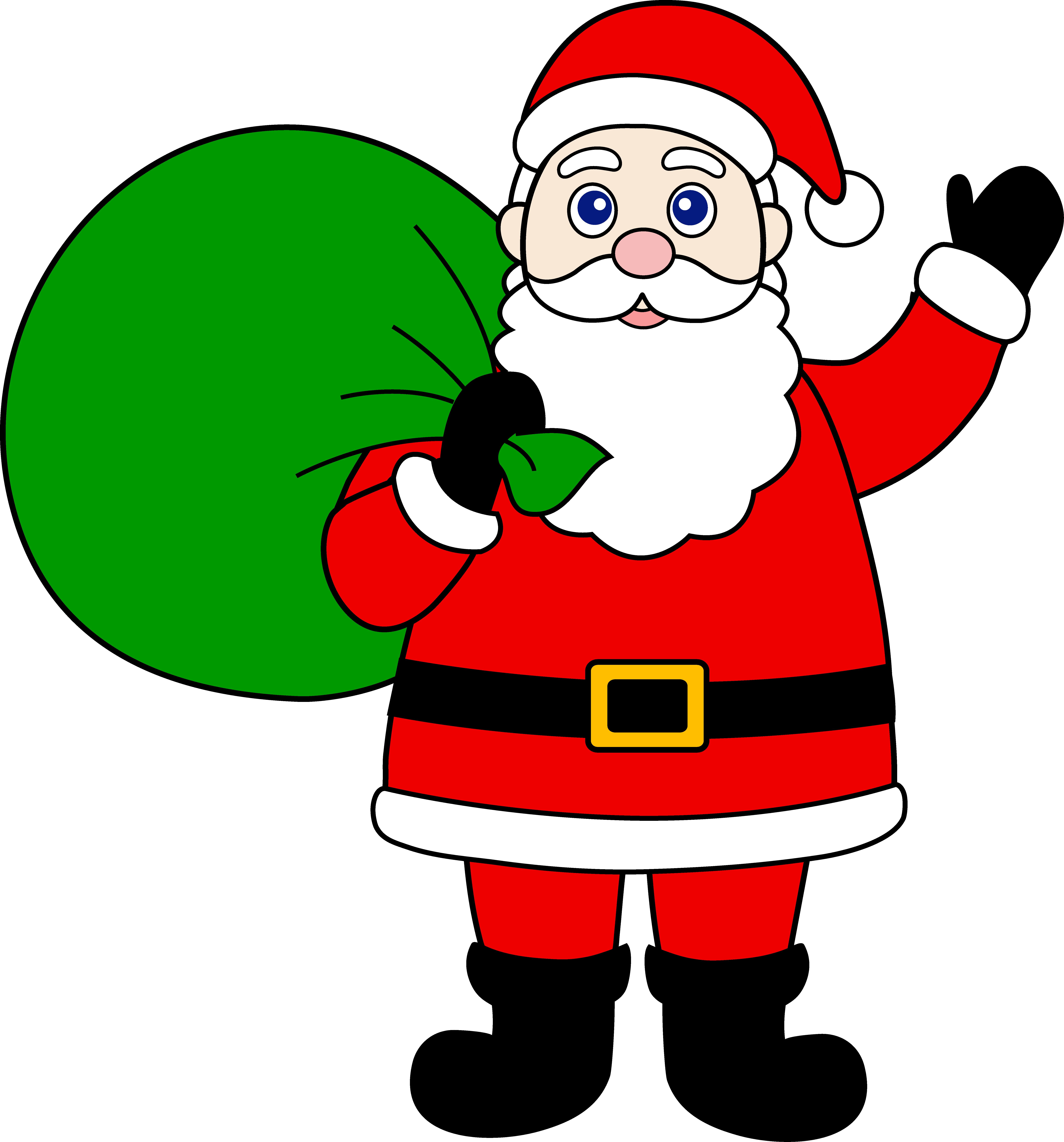 Santa Claus With Sack Of Gifts - Free Cl-Santa Claus With Sack of Gifts - Free Clip Art-16