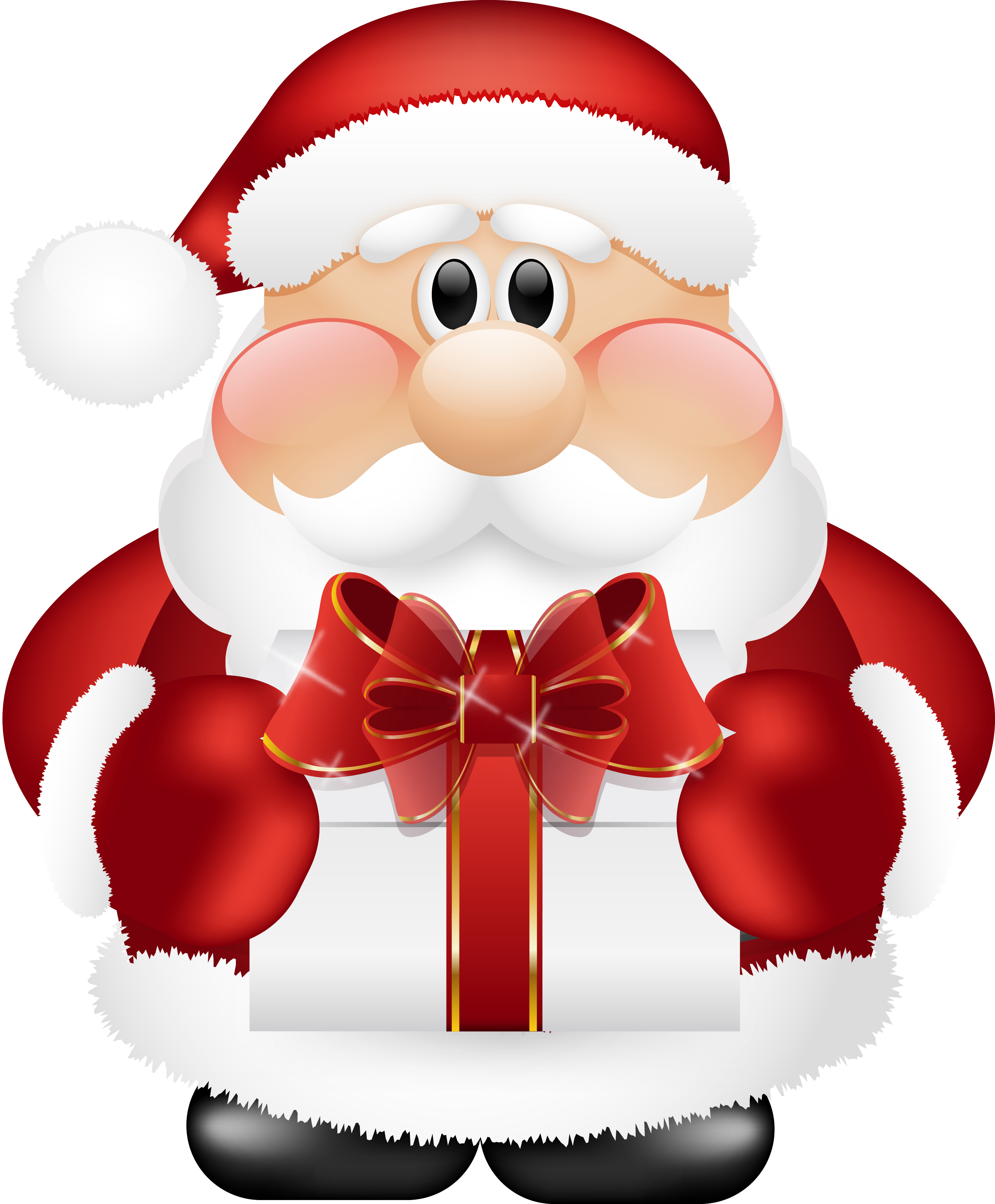 Santa clipart 2 . Gifts on .