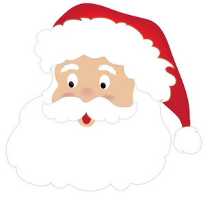 Santa Clipart Image Cute Cartoon Santa C-Santa Clipart Image Cute Cartoon Santa Claus Face-11
