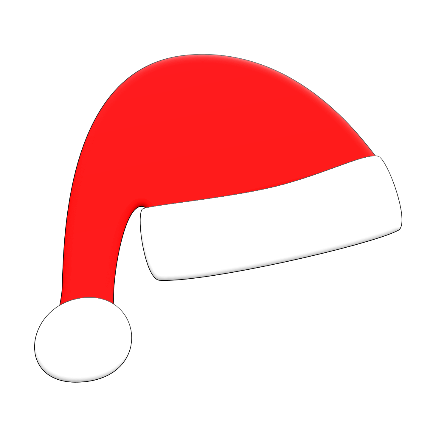 Santa Hat Clipart Clipart Kid-Santa hat clipart clipart kid-4