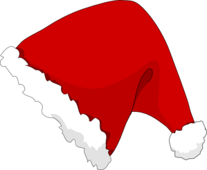 Santa Hat Clipart Outline. 1197158313759128608Theresa ... xmas-hat-md.png .