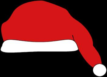 Santa Hat Image - a clip art image of a red Santa hat.