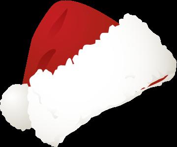 Santa hat template clipart