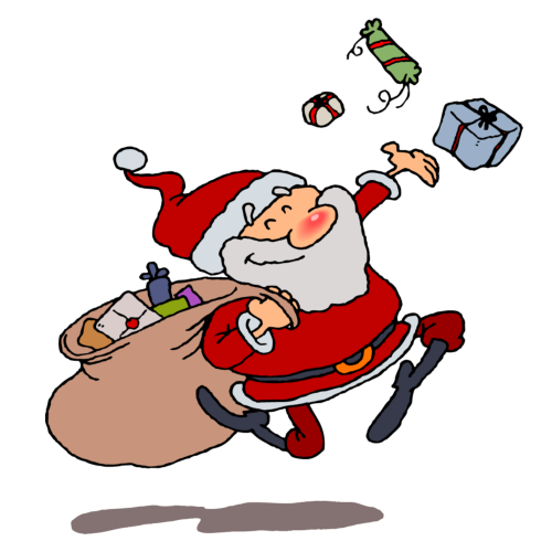 Santa Images Clip Art Free - .