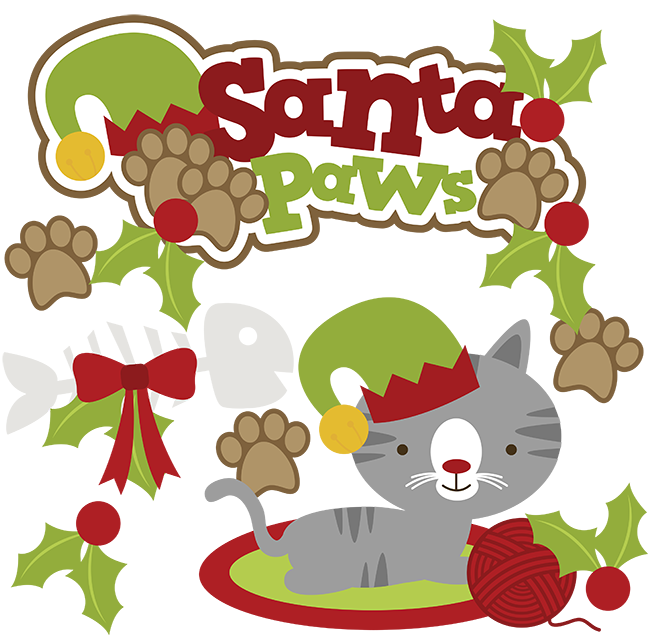 Santa Paws SVG cat clipart cat svg cute cat clip art christmas svg | CRAFTY - SVG Files I must GET | Pinterest | Cats, Art and Cute cats