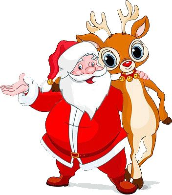 santa reindeer pictures free | Clip-art and backgrounds for Christmas