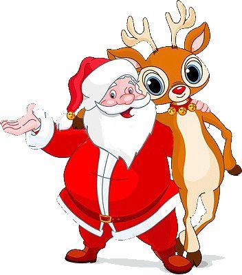 Santa Reindeer Pictures Free | Clip-art -santa reindeer pictures free | Clip-art and backgrounds for Christmas-16