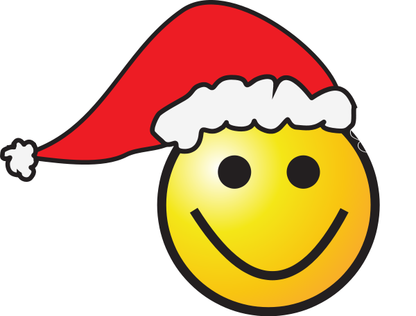 Santa smiley face clipart