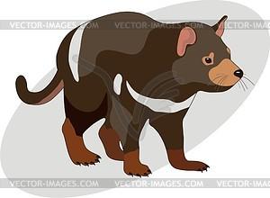 Sarcophilus Harrisii Tasmanian Devil Vec-Sarcophilus Harrisii Tasmanian Devil Vector Clipart-5