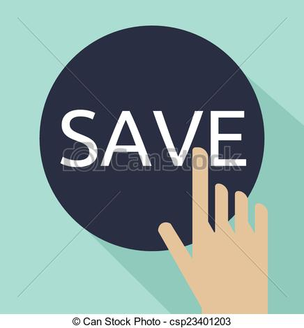 hand click on save button - csp23401203