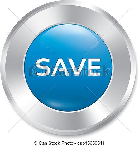 Save button. Save red round sticker. Isolated. - csp15650541
