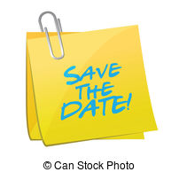 Save the date meeting clipart