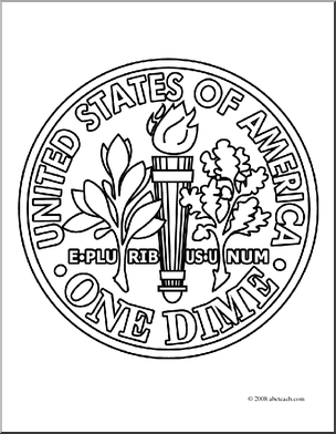 Saving Money Coloring Pages Coloring Page Currency Dime Clip Art Cent Money Coloring Coin Coloring ...