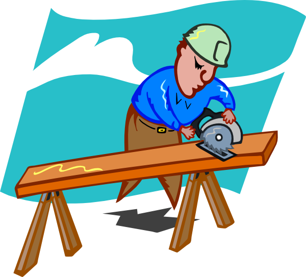 Sawing Carpenter Clip Art At Clker Com Vector Clip Art Online