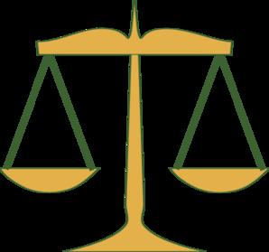 Scales Of Justice Clip Art At Clker Com Vector Clip Art Online