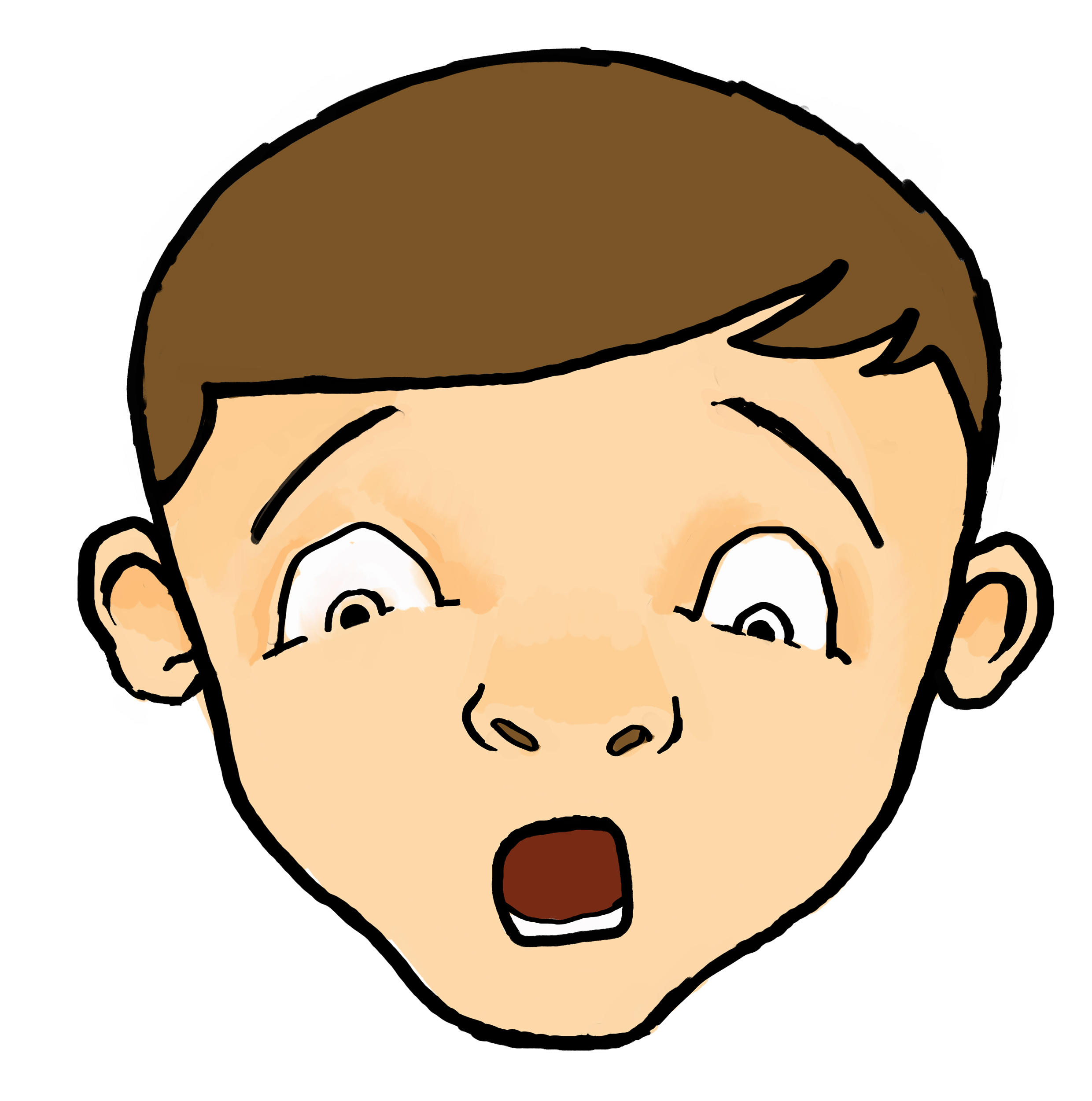 Scared Kid Clipart Clipart Pa - Clipart Faces