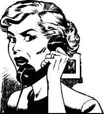 Scared Phone Call Clipart
